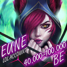 👻 EUNE League Of Legends LOL Smurf Account 40.000/80.000 BE Unranked Level 30