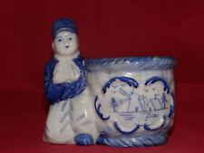 Goldcastle Chikusa Blue & White Dutch Boy w/Bowl Windmills Sugar Bowl
