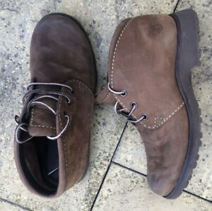 """TIMBERLAND Women's 6"""" LEATHER BOOTS Brown Size UK 4.5 Waterproof"""