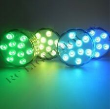 LED Light Puck or Pod Remote Control LED Submersible Lights - 2 pc w/ remotes