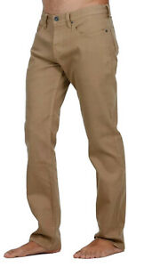 Billabong Straight Fifty Camel Stretch Jeans, Size 34. NWT. RRP $99.99