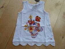 SO 16 - Catimini SPIRIT ethnic Top /Camiseta achsel, Blanco Flores Talla 7a-12a