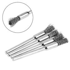 4Pcs 5mm Steel Wire Brushes Polishing Wheel Brush for Tools Mini Brushed Burr