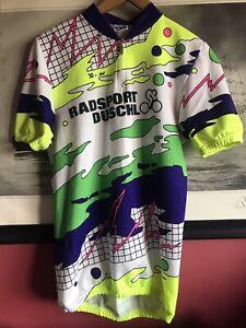 Santini Short Sleeve Cycling Jersey Shirt Radsport Duschl Women Teenager XL