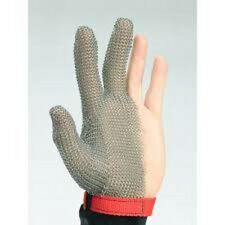 Brand New Stainless Steel 3-finger Protective Mesh Glove small,Fits either hand.