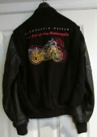 """BMW Art of the Motorcycle Lettermen's Jacket Guggenheim Museum """"Rare""""  Small"""