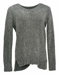 Orvis Chenille Sweater Women's Size S Ribbed Pull-Over Gray