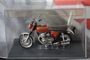 DEAGOSTINI IXO - HONDA CB750 FOUR 1970 COBBLED PLINTH DIECAST MOTORCYCLE 1/24