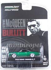 GREENLIGHT 44741 BULLITT 1968 DODGE CHARGER R/T 1/64 STEVE MCQUEEN GREEN MACHINE