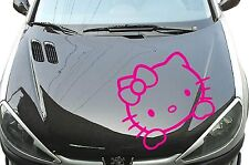 Hello KITTY MIROIR voiture autocollant sticker 60cm x 55cm Fun Capot