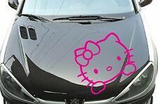 Hello Kitty Spiegel Auto Aufkleber Sticker 60cm x 55cm Fun Motorhaube