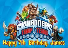 SKYLANDERS TRAP TEAM PERSONALISED A5 BIRTHDAY CARD with COLOURING PICTURE