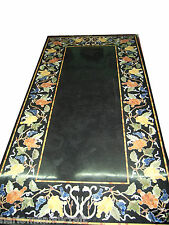 """Size 30""""x72"""" Marble Dining Table Top Inlaid Gemstone Pietradure Home Decor H1206"""
