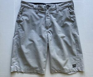 Billabong submersibles crossfire board shorts light gray boys sz 27