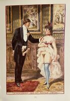 Victorian Era Erotik Art Noble Vagina Gentleman Penis Breast England 1880