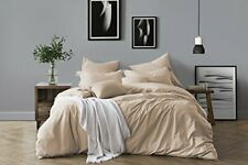 Swift Home 100% Cotton Washed Yarn Dyed Chambray Duvet Cover & Sham Bedding Set,