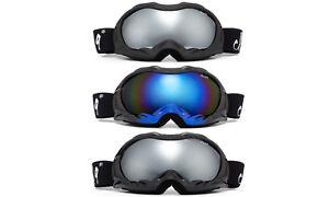 Mens Womens Snowboard Ski Goggles Winter Anti Fog Dual Lens 100% UV w/ Pouch