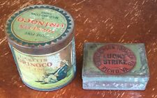 OLD VTG ANTIQUE RA PATTERSON LUCKY STRIKE TUCKETT ORINOCO TOBACCO TIN LOT OF 2