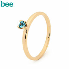 Blue Topaz Yellow Gold Fine Jewellery