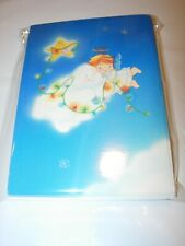 New 9 Christmas Cards & Envelopes Angel Child Redhead Girl Religious 4X5.5