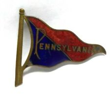 Antique 1900`s University of Pennsylvania College Football Pennant Flag Pin