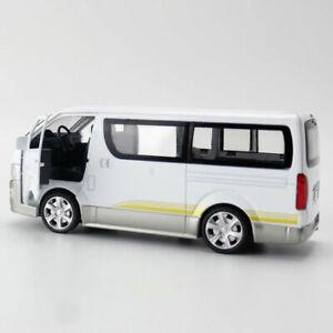 Toyota Hiace Van Model Car Diecast Gift Toy Vehicle Kids White Pull Back 1:32 YM