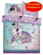 Disney Minnie Mouse 'Unicorn' Double Duvet Quilt Cover Set Girls Kids Childrens