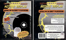 ACTION REPLAY - SONY PLAYSTATION 1 - CD VERSION, TWO IN ONE, NUOVO E SIGILLATO
