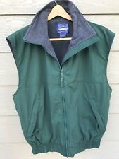 WEST MARINE Nautical Gear Men's Sleeveless Vest Jacket Size M Green Fleece lined