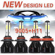 9005+H11 Car Cree Led Headlight Hi&Lo Beam 4-Sided 4800W 480000Lm Slim Bulbs