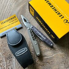 New, Leatherman Juice C2 Granite Gray. Collectible. Leather Sheath