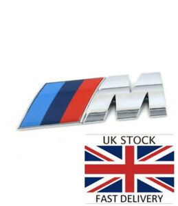 Chrome M Sport Boot Badge for BMW 7.3x2.6cm U.K Fast Delivery