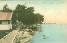 Henderson Harbor, NY The Office Tent, Association Island, Hand-Colored