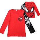 Kid Boy Spiderman Outfit Toddler Hoodie Hoody Sweatshirt Jacket T-Shirt Top Pant