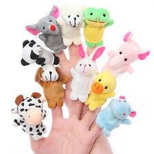 Finger Puppets Cloth Plush Doll Baby Educational Hand Cartoon Animal Toys 10pcs