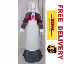 WW1 qaimns personale di colore grigio uniforme Infermiera Costume Dress (19R-L)