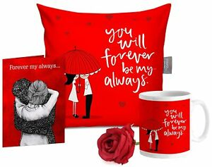 """Cushion Filler 12""""x12"""", Cute Teddy, Artificial Rose & Photo Valentine Day Gift"""