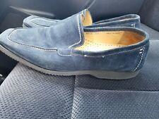 Magnanni Blue Suede Penny Loafer Slip-On Men's Size EU 44 US 11 M