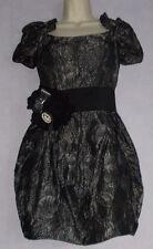Ladies RIVER ISLAND black/grey embellished party evening dress size 8