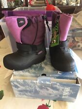 Tundra Quebec Toddler Girl's M Size 10 Purple 192-90095 new in box