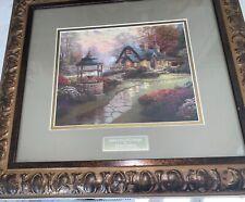 New ListingThomas Kinkade ~ Make A Wish Cottage ~ Ornate Framed Library Edition Print