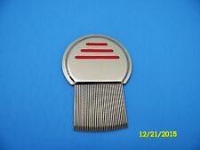 Lice Comb Metal Nit Head Stainless Steel Long Teeth Terminator Red New