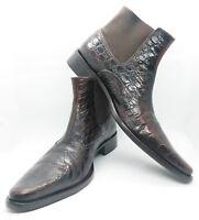 BRUMASS Leder Schuhe Gr. 44,5 Western Leather Boots Shoes Braun Stiefeletten