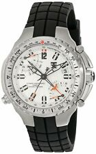 NEW-TX SILVER TONE,700 SERIES SPORT FLY-BACK, DUAL TIME ZONE WATCH T3B881