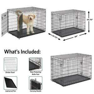 "Midwest Ultima Pro Extra-Strong Double Door Metal Dog Crate, 48""L"