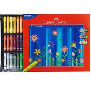 Faber-Castell 50 Oil Pastels  (Set of 50, Multicolor)