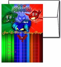 12 PJ Masks Birthday Invitation Cards (12 White Envelops Included) #2