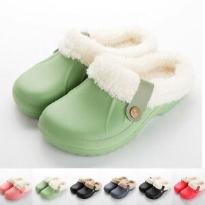 Herren Damen Schuhe Winter Clogs gefüttert Hausschuhe Gartenschuhe Größe 35-45..