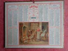 1893 CALENDRIER DES POSTES ALMANACH LANDES QUI DORT DINE