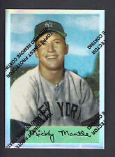 Mickey Mantle 1996 Topps Finest Reprints Refractor card #4 1954 Bowman